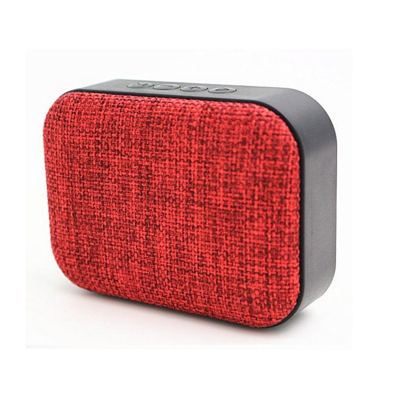 Jogger Fabric Art Bluetooth Speaker Outdoor 3W Portable Mini Audio Music Subwoofer Support TF Card/FM/U Disk with MIC. Bluetooth Mobile/Tablet/PC Portable Speaker (Red)