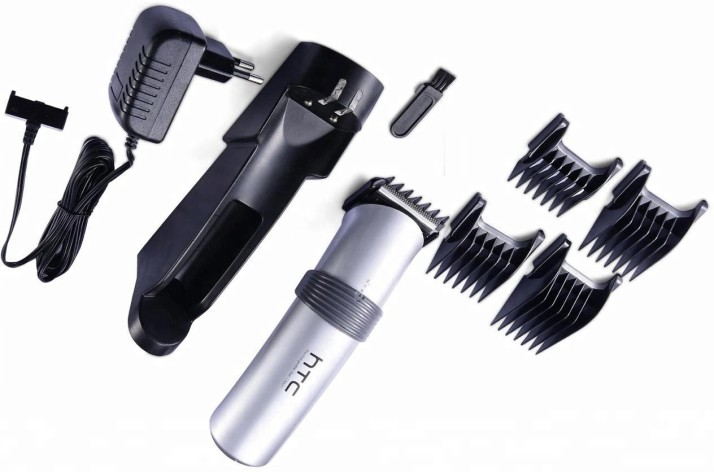 HTC AT-513 Rechargeable  Runtime: 60 min Trimmer for Men (Silver)