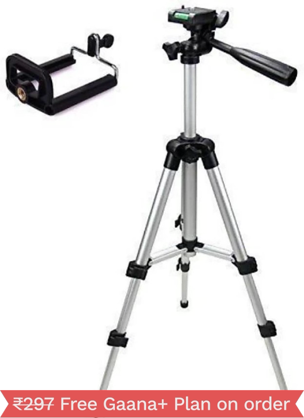 Perfect Nova(Device Of Man) Tripod-3110 Portable Adjustable Aluminum Lightweight Camera Stand With Three-Dimensional Head & Quick Release Plate For Video Cameras and mobile Tripod(Silver, Supports Up to 3000 g)