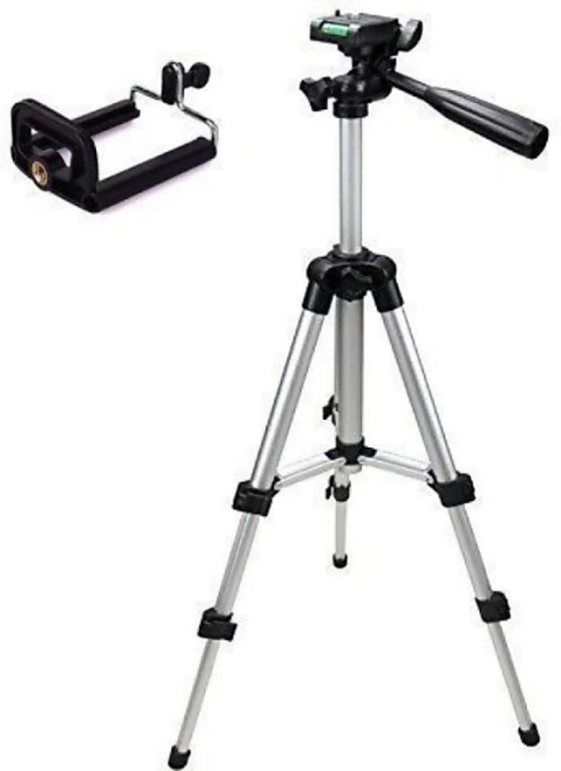 Perfect Nova(Device Of Man) Tripod-3110 Portable Adjustable Aluminum Lightweight Camera Stand With Three-Dimensional Head & Quick Release Plate For Video Cameras and mobile Tripod (Silver, Supports Up to 3000 g)