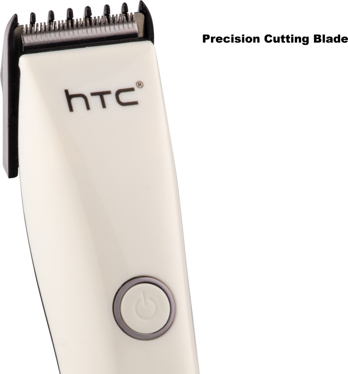 HTC AT-206 Rechargeable Hair  Runtime: 45 Trimmer for Men (White)