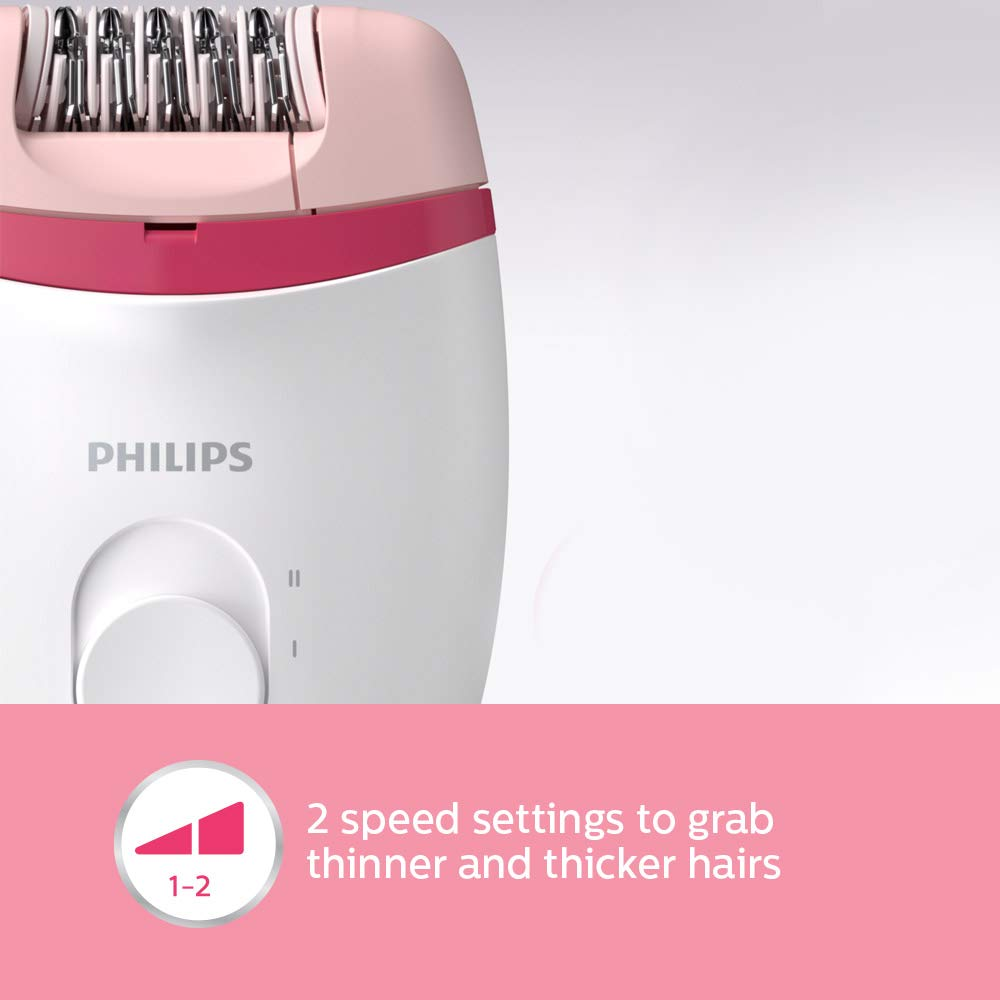 Philips Bre235/00 satinelle essential corded Epilators ( White & Pink )