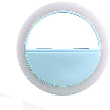 HBNS Selfie Ring Light with 36 LED Lights for Selfies in Night Darkness (Blue)