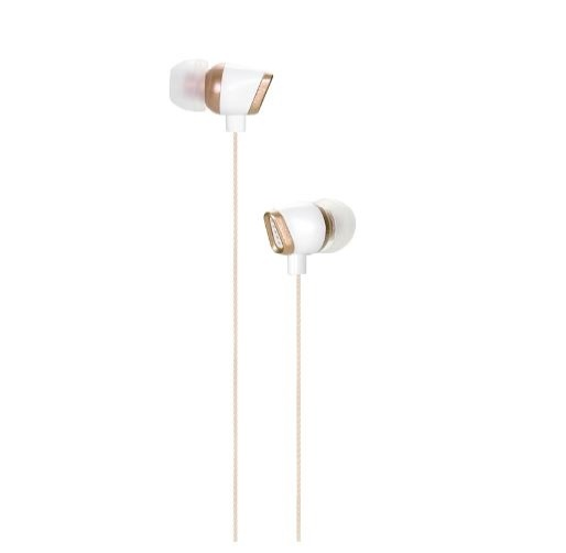 HBNS EM11 3.5mm Jack Universal Wired Earphone Stereo In-ear Earbuds Headphone with Mic - Golden