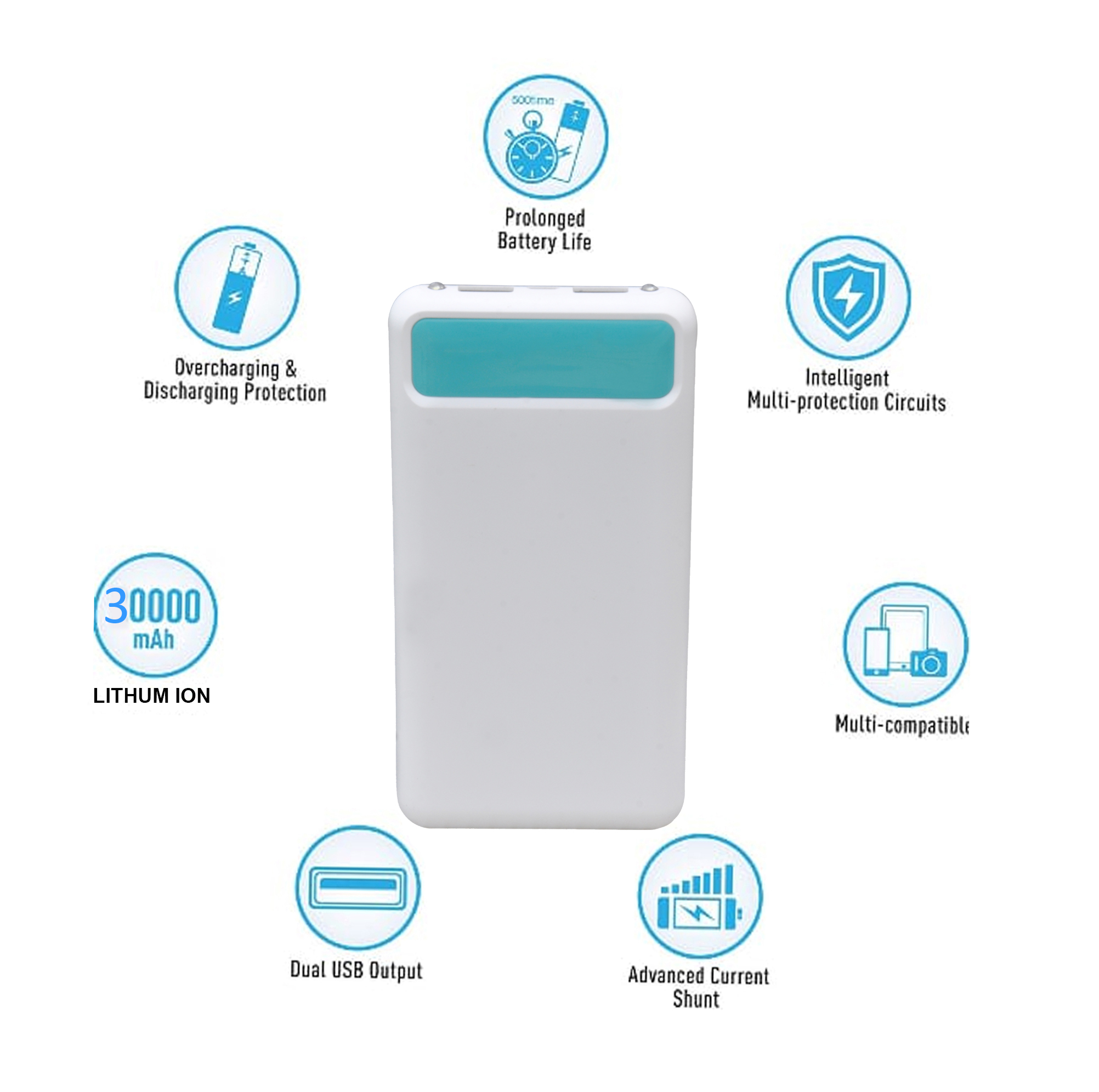 HBNS Pearl 30000mAh Power Bank With Fast Charging Speed,Lithiom ion Battery,Fast Charger