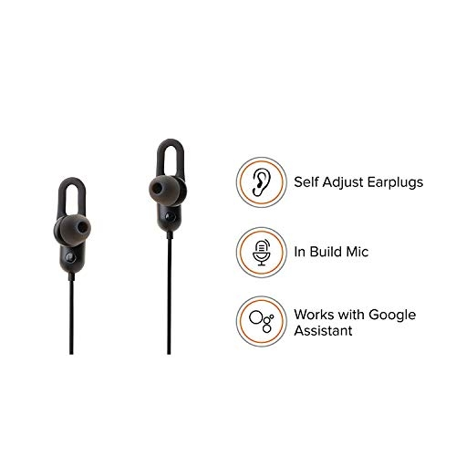 HBNS Sports Bluetooth Gem Jogger Earphone Wireless Headphones for Mobile Phone Sports Stereo JoggerRunningGyming Bluetooth Headset Compatible with All Devices(Assorted Color)