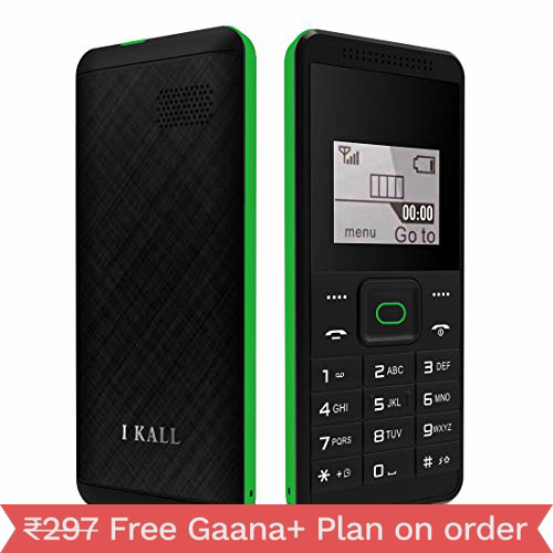I Kall K70 1.4 Inch Display Feature Phone - Green