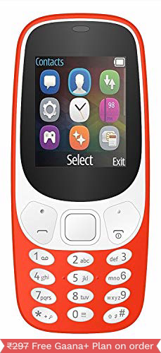 I kall K3310 1.8 Inch Display Feature Phone - Red