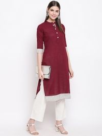 Stylum Front buttoned solid kurta Office Wear