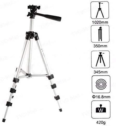 Royal Trust Portable Lightweight Aluminum Tripod for Mobile Phone with Nylon Carry Case