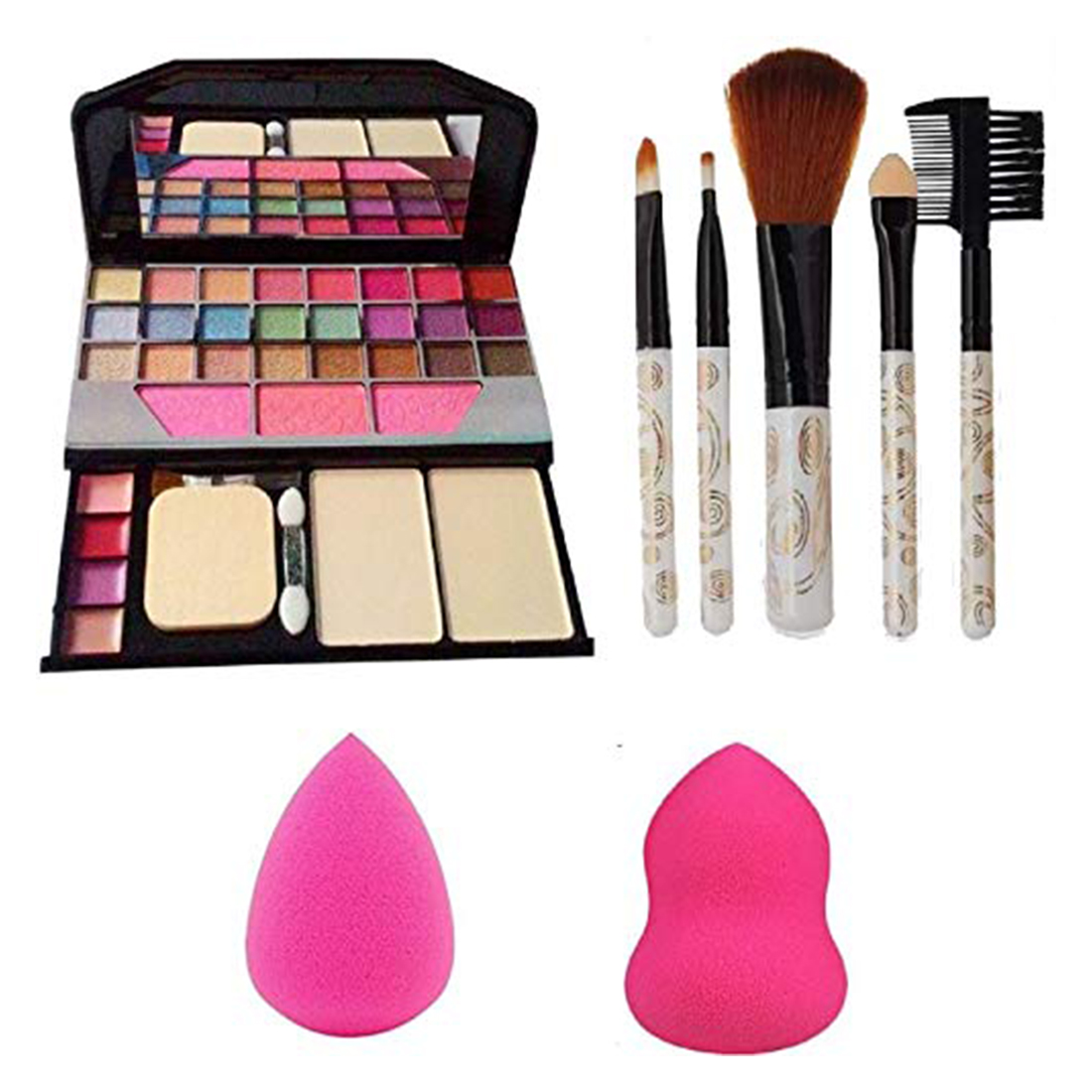 Adbeni Exclusive Makeup combo kit with 5 Soft Brushes- GCI768