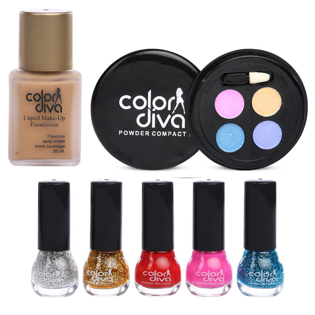 Color Diva Beautify You By Color Diva Makeup Combo Set Of 7- C-522