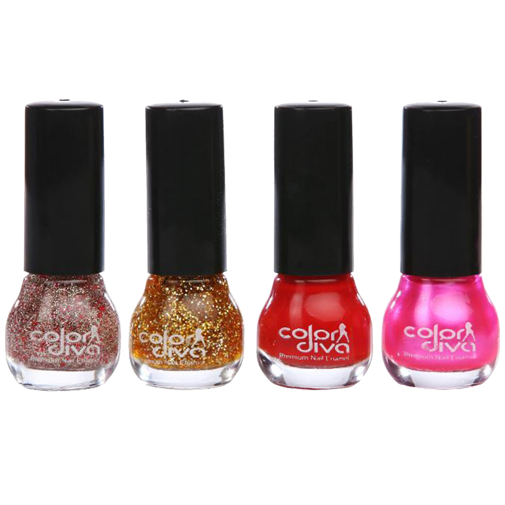 Adbeni Combo - Color Diva Lipsticks, Nail Polish & Kajal, Pack of 9, (GC1432)