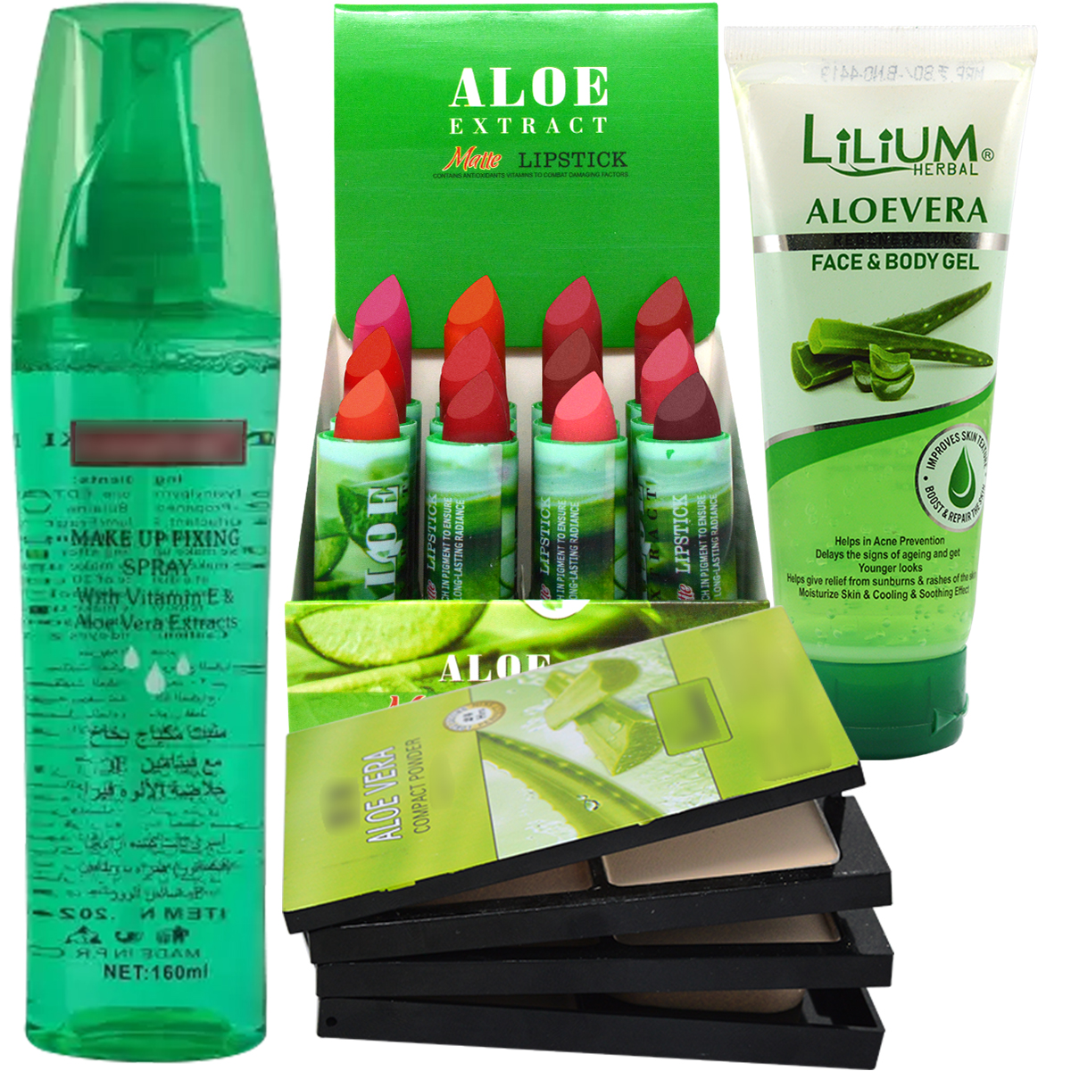 Lilium Complete Aloe Vera Makeup Kit With Skin Care Combo Pack