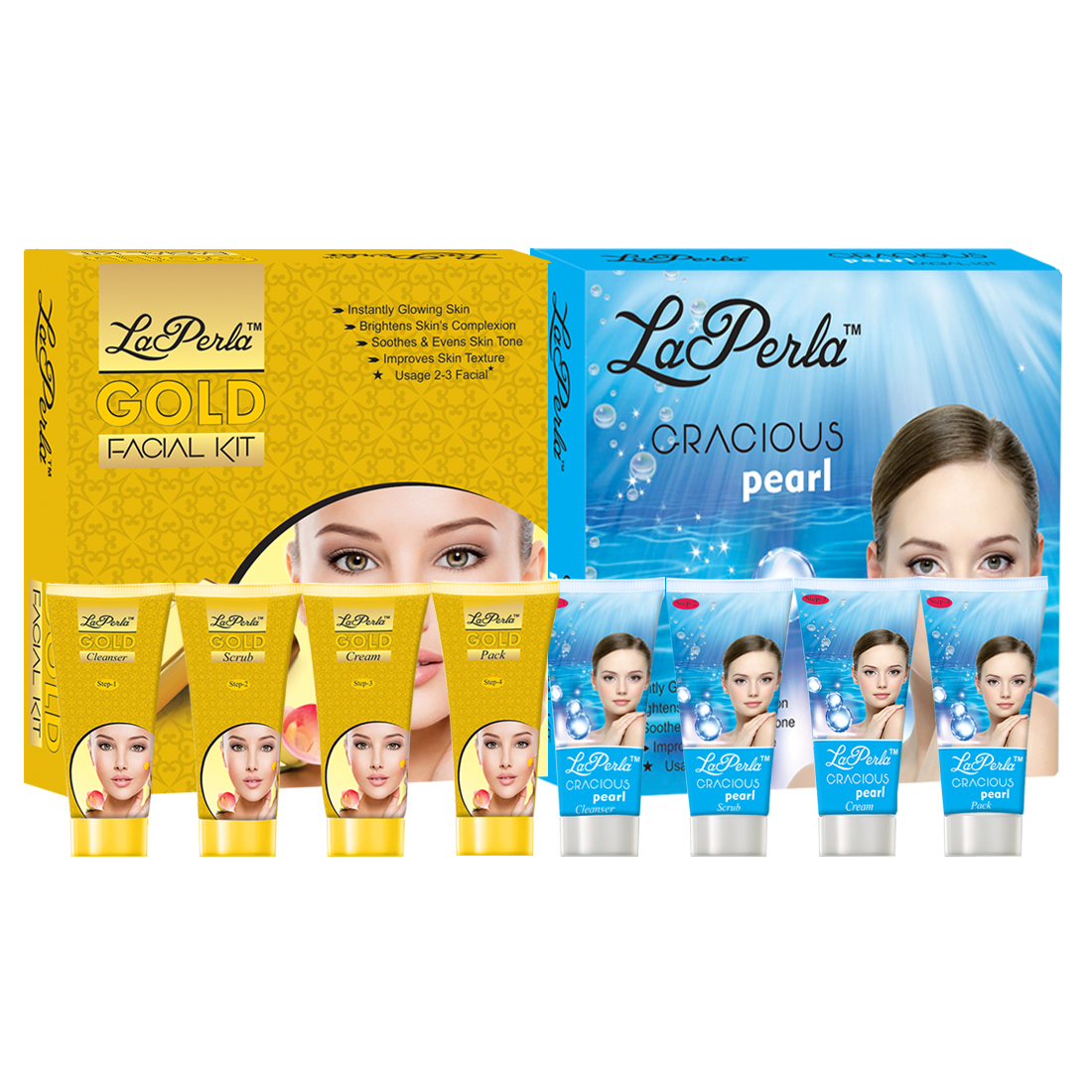 Laperla 3 in 1 Jewel Facial Kit With Multi Beauty Makeup Pack for Womens Gc910