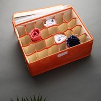 Dennmarks 24 Compartment Non-Smell Non Woven Foldable Fabric Storage Box for Closet