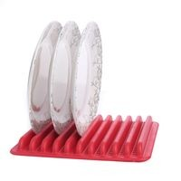 Dennmarks plastic Dish Rack Over Sink with Spoon Holder Utensil (DNMK-UH-1119-086) - Red