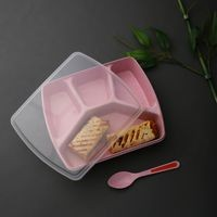 Dennmarks eco friendly lunch box designed for exclusively for kids with endless combination (DNMK-LB-1119-058) - Pink