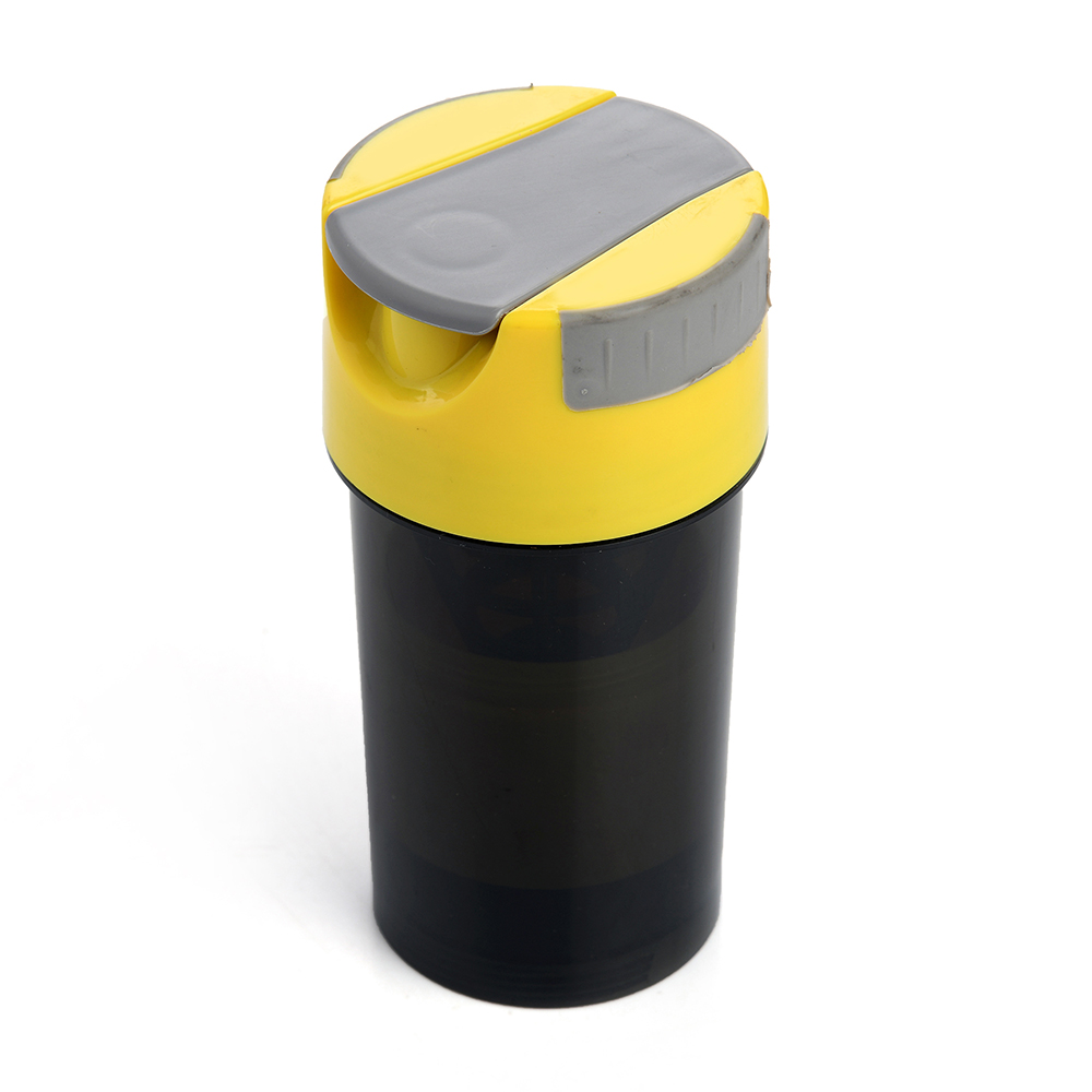 Dennmarks Gifts store Plastics Shaker Bottle/Protein Shaker/Sipper-Bottle/Gym- 500ml Bottle Yellow