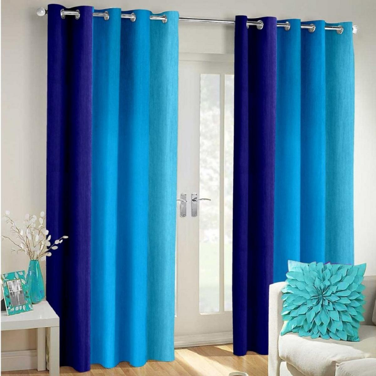 IndianOnlineMall shaded Single long crush curtain(4x5ft)