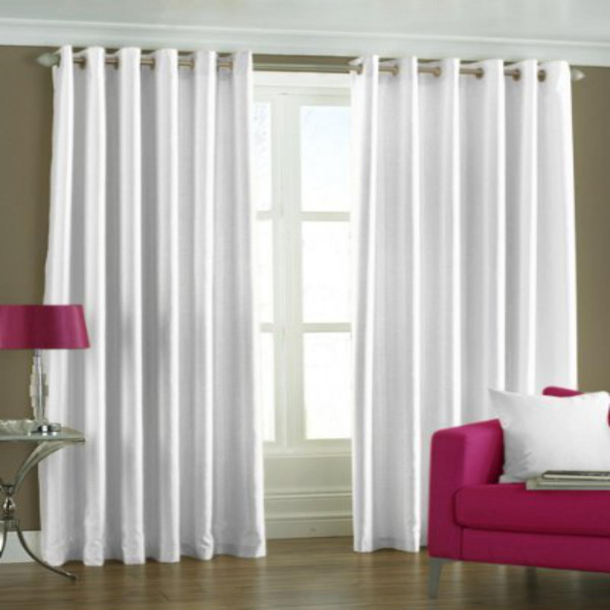IndianOnlineMall Plain Single crush curtain(4x9ft)