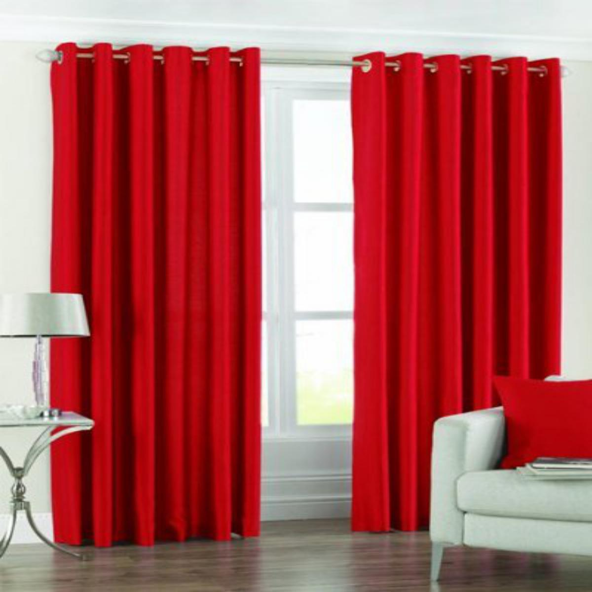 IndianOnlineMall Plain set of 2 crush curtain(4x5ft)