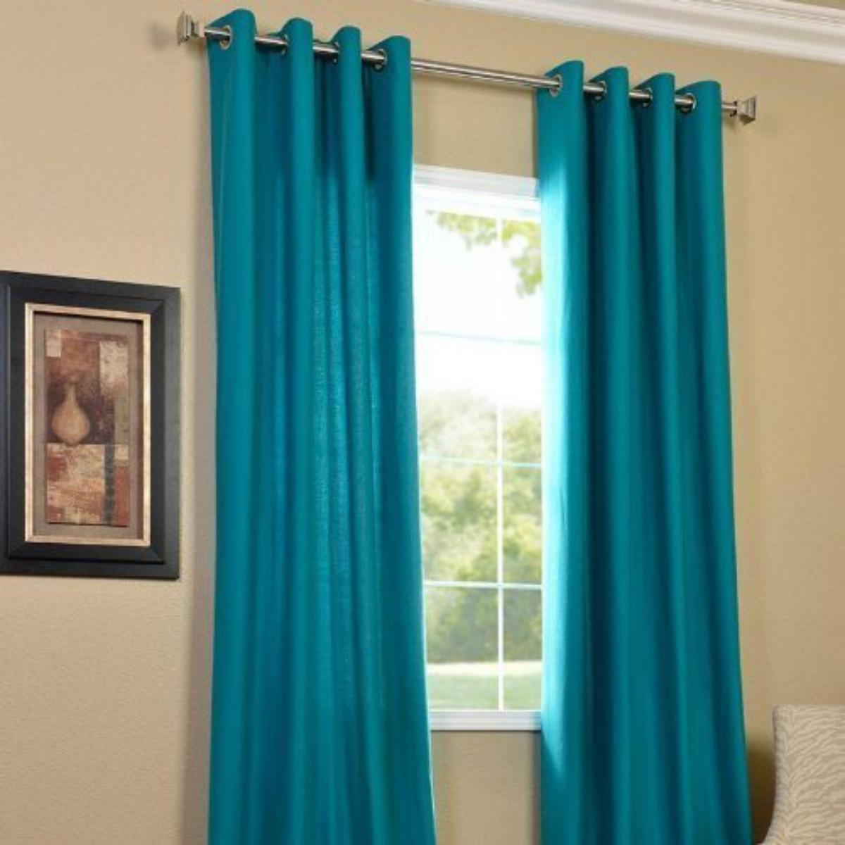 IndianOnlineMall Plain set of 2 crush curtain(4x9ft)