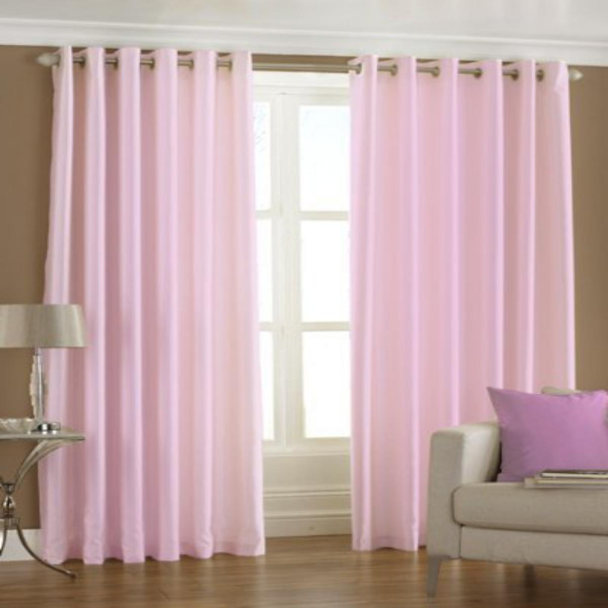 IndianOnlineMall Plain Single crush curtain(4x7ft)