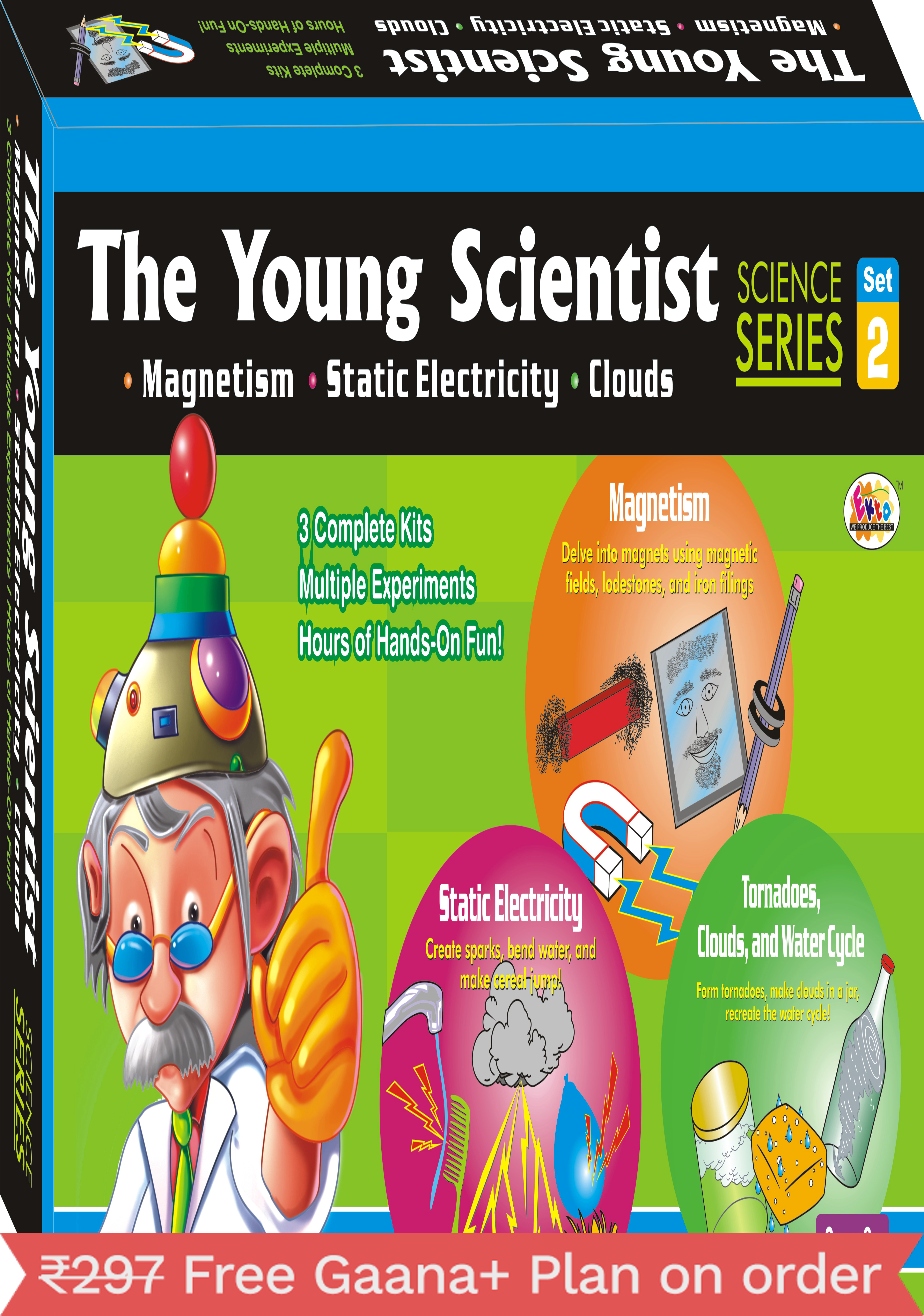 Ekta The Young Scientist-2(Magnetism Electricity CloudsDo It YourSelf Kit)