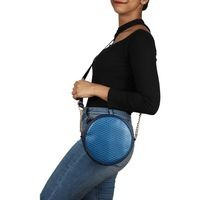 Vivinkaa Blue Faux Leather Sling Bag
