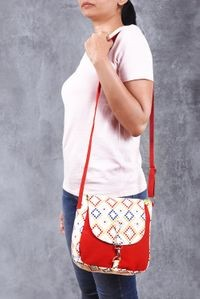 Vivinkaa Red Canvas Sling Bag