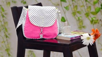 Vivinkaa Pink Canvas Sling Bag