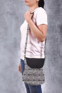 Vivinkaa Black Canvas Sling Bag
