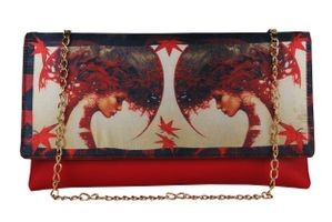 Vivinkaa Red Faux Leather Clutch