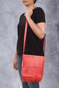Vivinkaa Pink Faux Leather Sling Bag