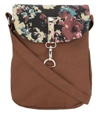 Vivinkaa Brown Canvas Sling Bag