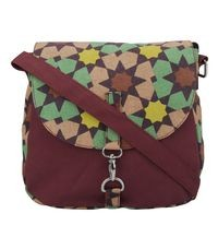 Vivinkaa Maroon Canvas Sling Bag