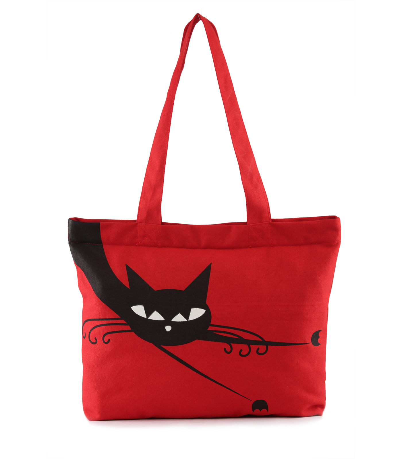 Vivinkaa Red Canvas Tote