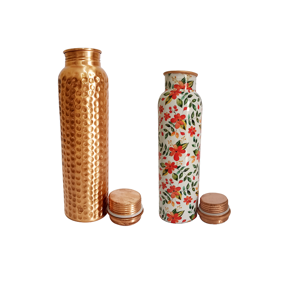 1 Bottle 1000ml & 2nd bottle 750ml - Hammered Copper  1000ml Orange Flower Copper  750ml