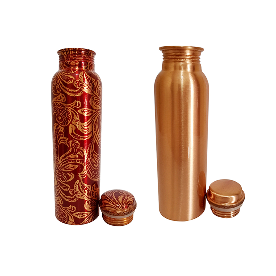 1 Bottle 1000ml & 2nd bottle 1000ml - Red Leaf Copper  1000ml Plain Copper  1000ml