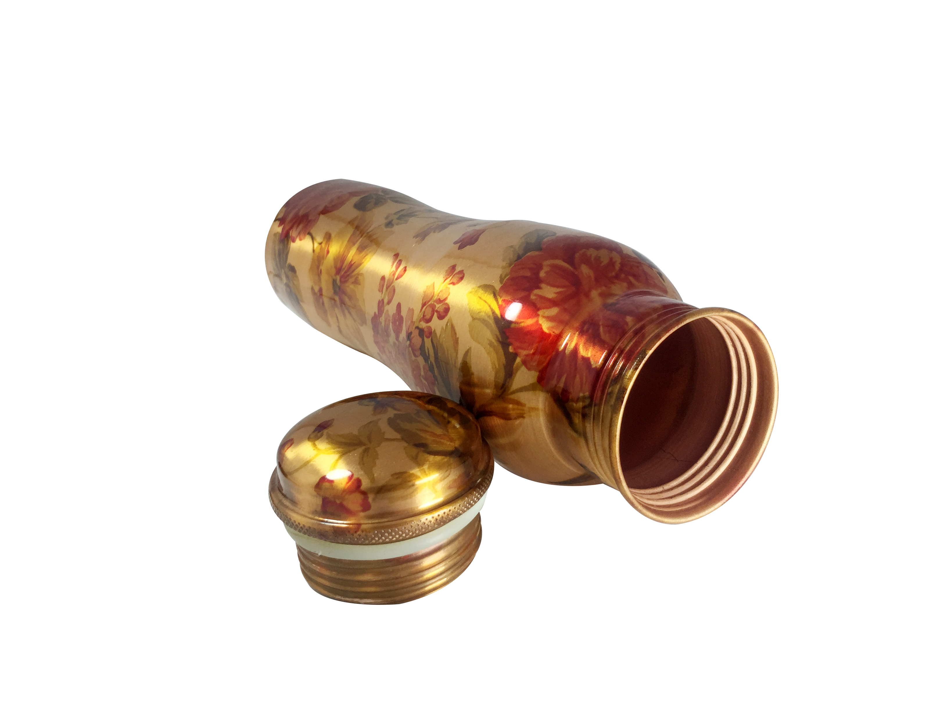 1 Sipper 750Ml and 1 Copper Bottle 1000Ml - sports sipper 750ML Curved Leaf Copper Bottle 1000ml