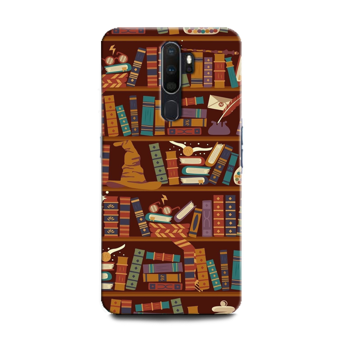 INDICRAFT Mobile Back Cover For Oppo A9 2020 / CPH1937 Hard Case (Harry Potter, Library, Books) (AB-OppoA92020-0488)