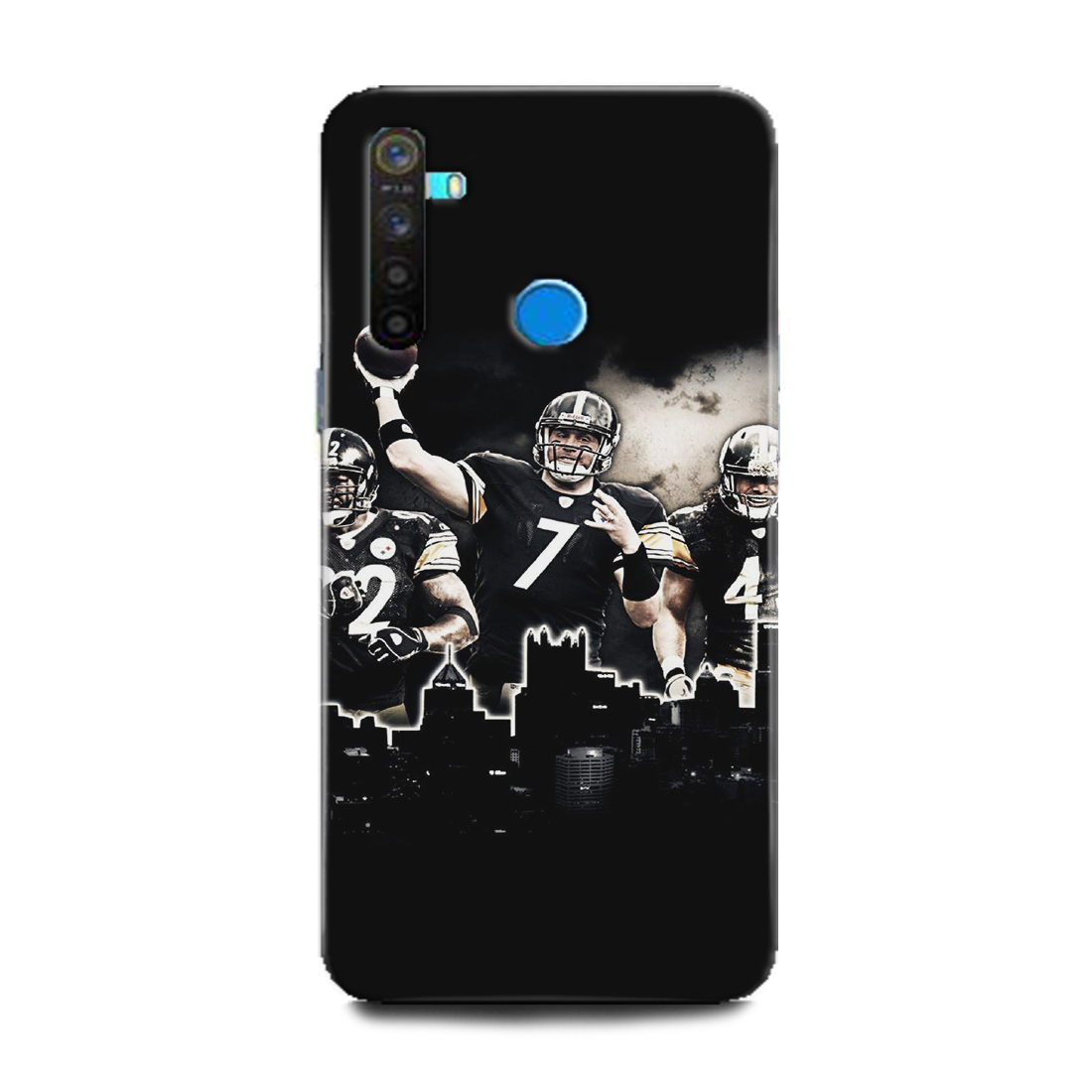 INDICRAFT Mobile Back Cover For Realme 5s Hard Case (Nike rugby, Sports, Appearls, Black and white, RMX1925) (AB-Realme5s-0055)