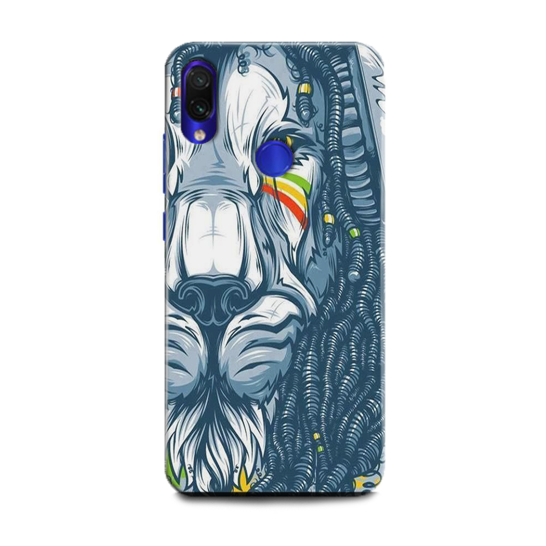 INDICRAFT Mobile Back Cover For Mi Redmi 7 / Hard Case (Lion, The King Of Jungal, Lion Face, Abstract Art Lion) - AB-Redmi7-0303