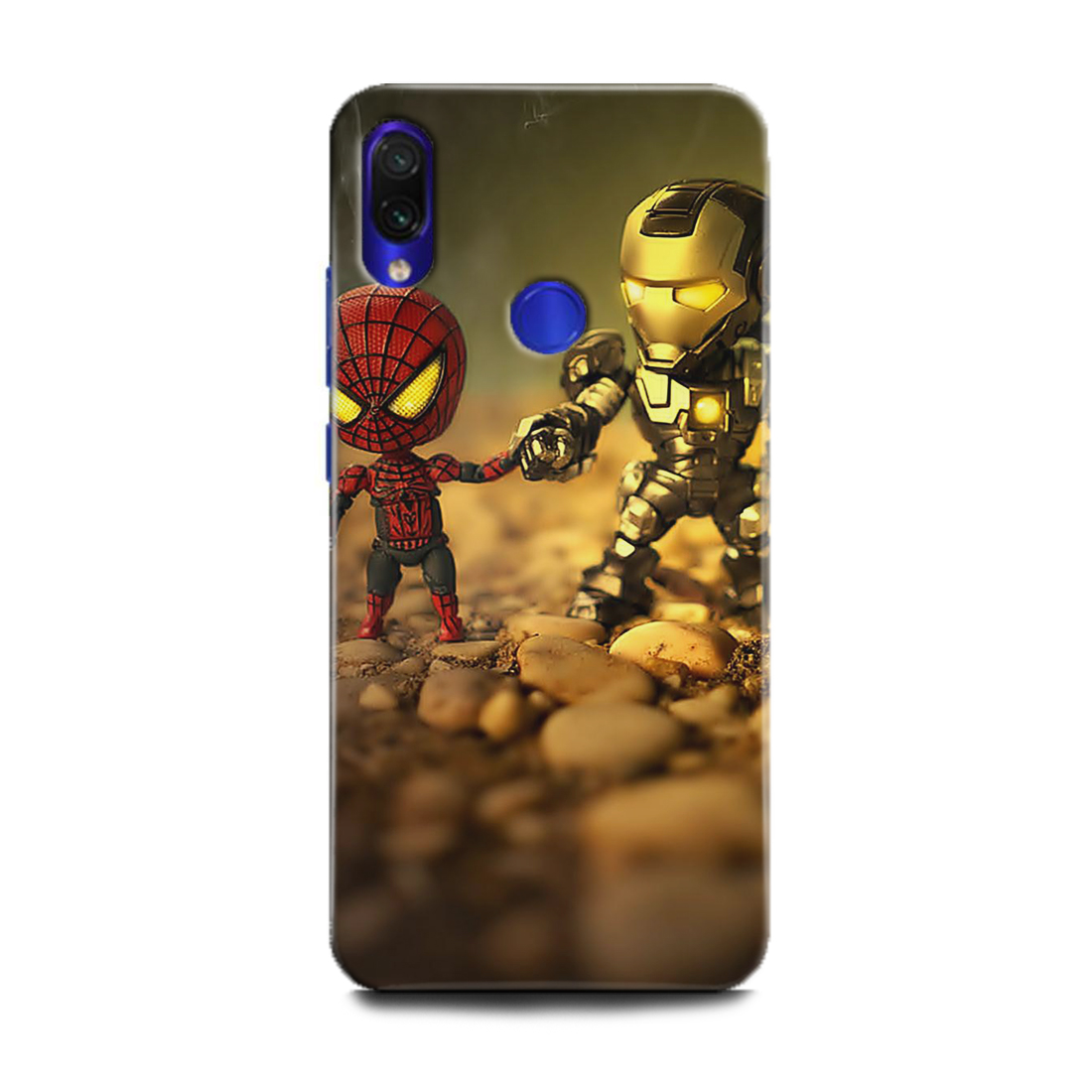 INDICRAFT Mobile Back Cover For Mi Redmi Y3 / Hard Case (Iron Man, Spiderman, Comic, Avengers, Marvel, Superheroes, M1810F6I) (AB-RedmiY3-0062)