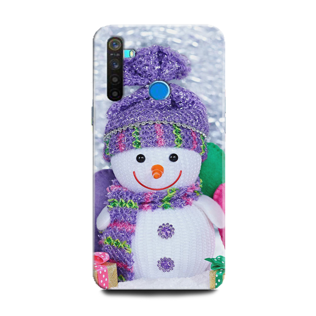 INDICRAFT Mobile Back Cover For Realme 5s Hard Case (Snow man, Winter Art, RMX1925) (AB-Realme5s-0096)
