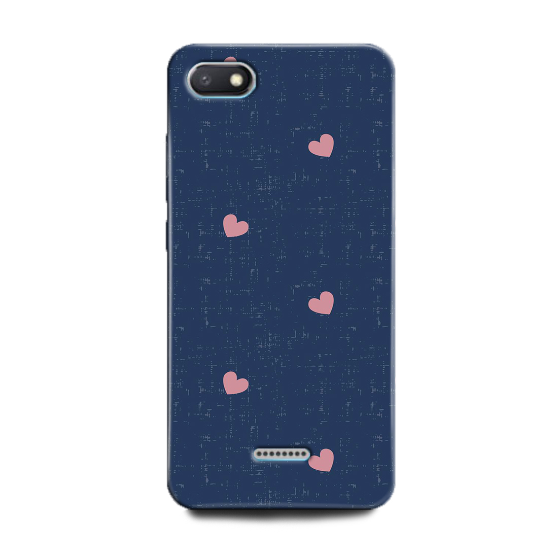 INDICRAFT Mobile Back Cover For Mi Redmi 6A(Hearts, Love, Pink Heart, Blue, Abstrect Art, Texture, Jeans) (AB-Redmi6A-0444)