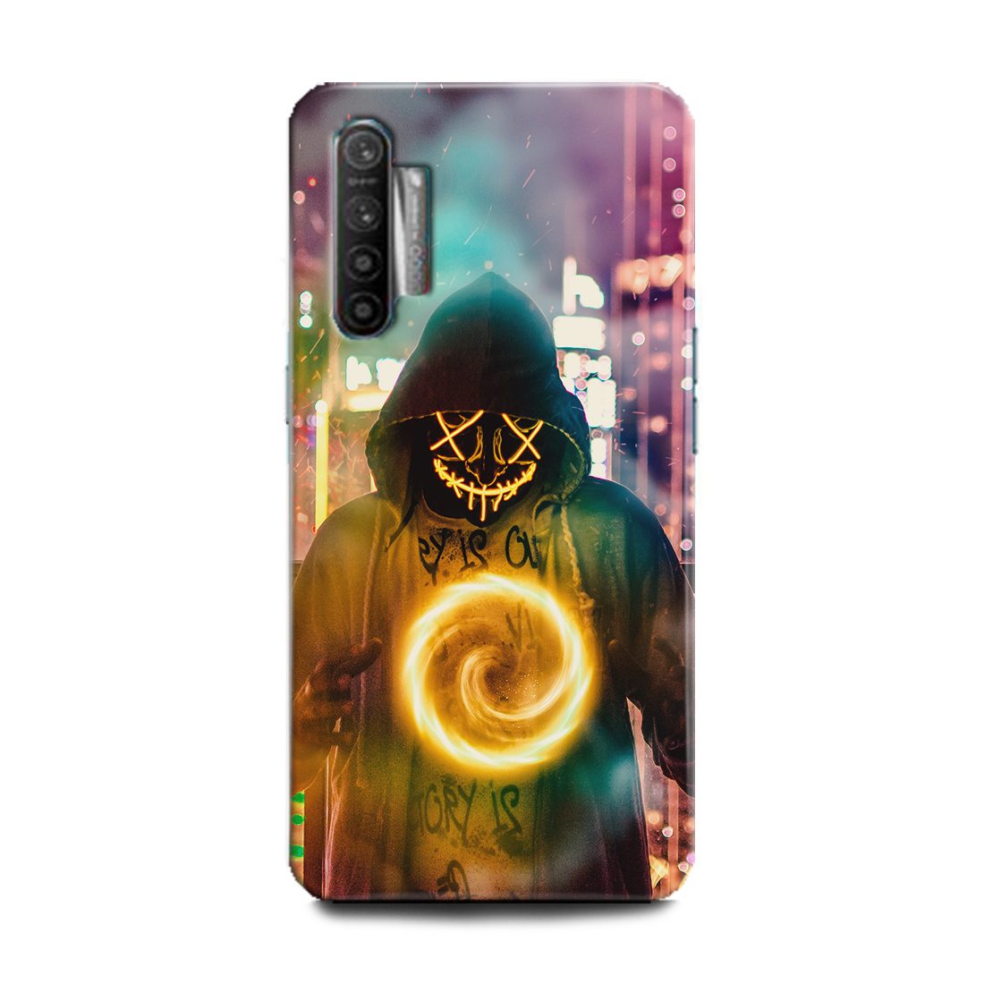 INDICRAFT Mobile Back Cover For Realme X2 Hard Case (Marshmello, Dj, EDM, Music, Smiley, Funny, RMX1992) (AB-RealmeX2-0717)