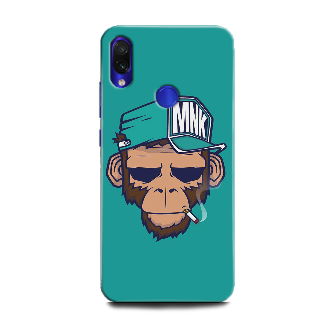 INDICRAFT Mobile Back Cover For Mi Redmi Note 7s / Hard Case (Funky, Monkey, Hat and ciggrate, MZB7742IN) (AB-RedmiNote7s-0114)