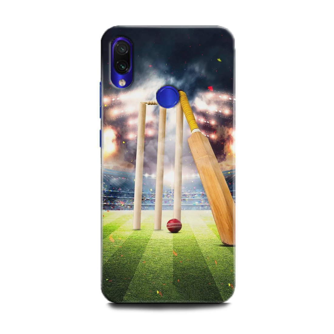 INDICRAFT Mobile Back Cover For Mi Redmi Note 7 Pro / Hard Case (Cricket, Bat ball, Sports, MZB7464IN) (AB-Note7Pro-0629)